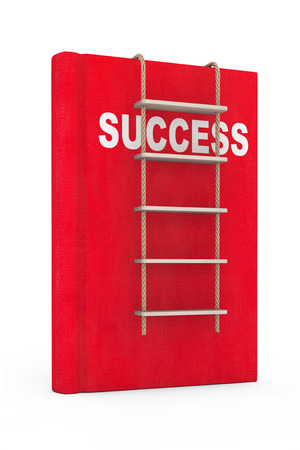 rope ladder: Sccess Book with Rope Ladder on a white background