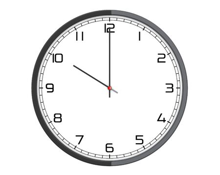 office clock: Round Modern Office Clock on a white background