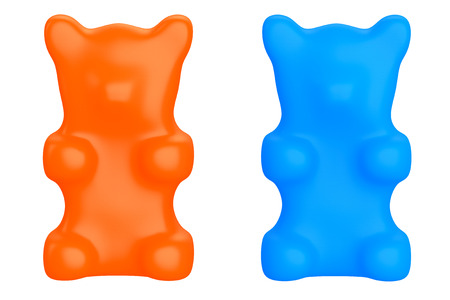 gummy: Gummy Candy Bears on a white background