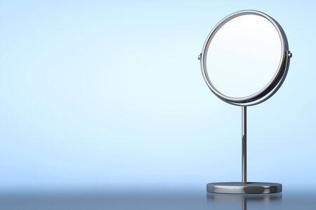 penumbra: Chrome Makeup Mirror on a blue background