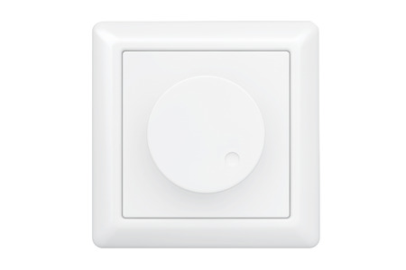dimmer: White Dimmer Light Switch on a white background