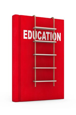 rope ladder: Education Book with Rope Ladder on a white background