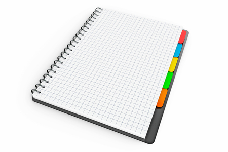 adress book: Personal Diary or Organiser Book with Blank Pages on a white background. 3d Rendering Stock Photo
