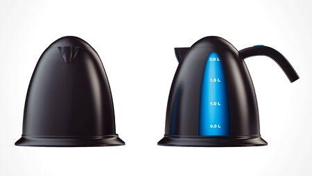 kettles: Modern Kettles on a white background. 3d Rendering