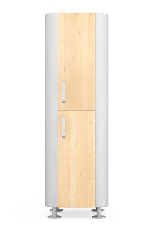 modern kitchen: Modern Wooden Kitchen Cabinet on a white background. 3d Rendering