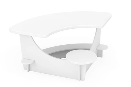 comfort classroom: White Study Kid Desk on a white background. 3d Rendering