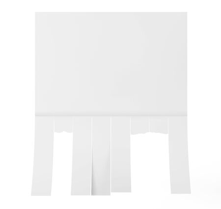 slips: Advertising Papers with Cut Slips on a white background. 3d Rendering