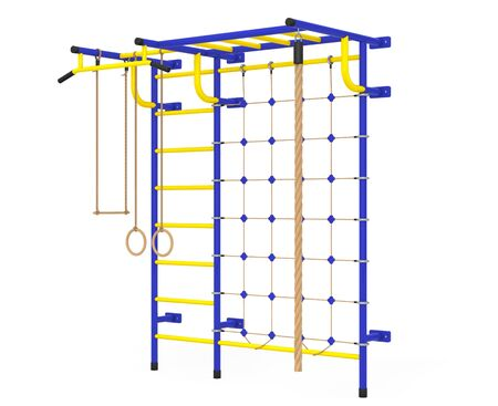 home equipment: Sports Playground Wall Bars for children on a white background. 3d Rendering
