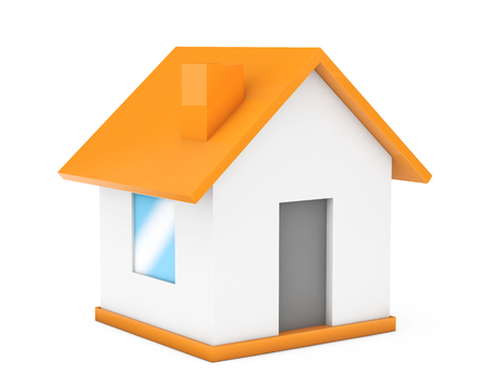 small house: Cartoon Simple Small House on a white background. 3d Rendering Stock Photo