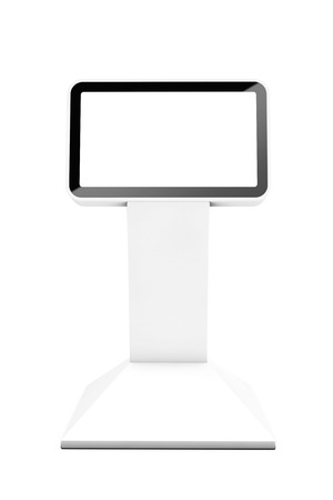 display stand: Information LCD Display Stand on a white background. 3d Rendering
