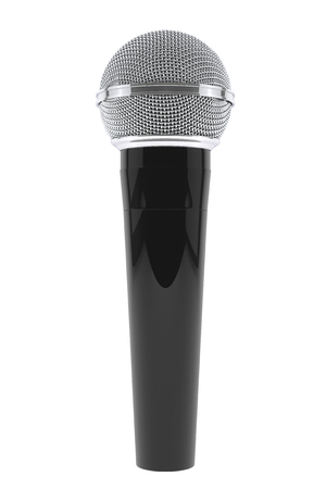 fidelity: Wireless Microphone on a white background. 3d Rendering