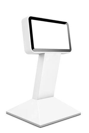 lcd display: Information LCD Display Stand on a white background. 3d Rendering