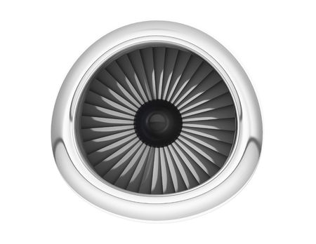 jet engine: Aircraft Jet Engine on a white background. 3d Rendering