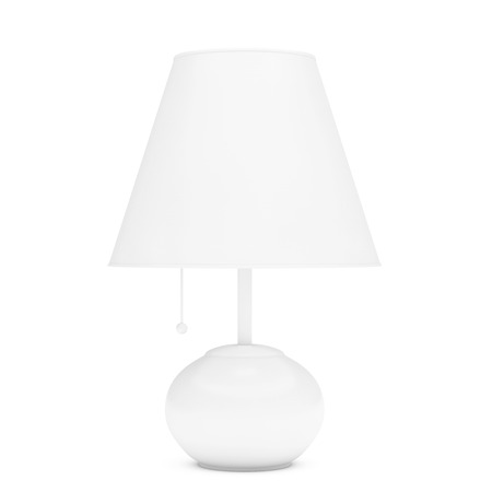 night table: Retro Night Table Lamp on a white background. 3d Rendering