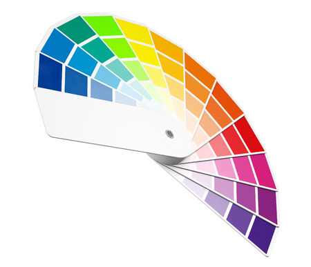 Color Palette Guide on a white background. 3d Rendering Stock Photo