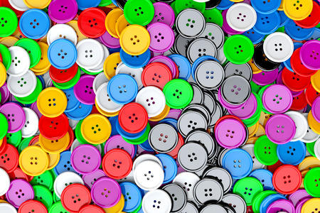 sewing buttons: Sewing Buttons background. Multicolor Sewing Buttons extreme closeup. 3d Rendering