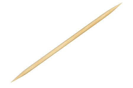 Wooden Toothpick Closeup on a white background. 3d Rendering Imagens - 64921264