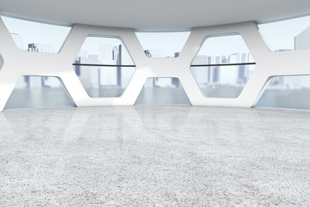 glass ceiling: Bright Empty Office Abstract Interior extreme closeup. 3d Rendering