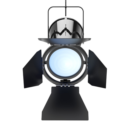 spot lit: Metal Modern Spotlight Suspend from Ceiling on a white background. 3d Rendering