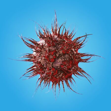 small vein: Abstract Virus, Bacteria or Microbe on a blue background. 3d Rendering
