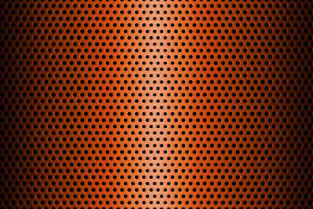 steel sheet: Metal Plate Covered with Lines of Circular Holes extreme closeup. 3d Rendering.