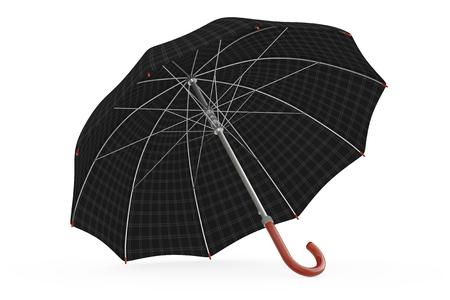 Big Modern Luxury Umbrella on a white background. 3d Rendering. Stock Photo