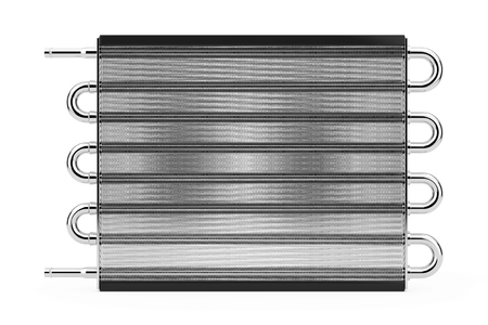condenser: Car Honeycomb Radiator Heater on a white background. 3d Rendering.
