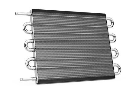 Car Honeycomb Radiator Heater on a white background. 3d Rendering.