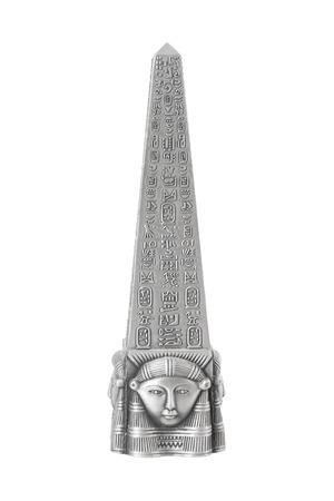 Metal Egyptian Obelisk on a white background Stock Photo