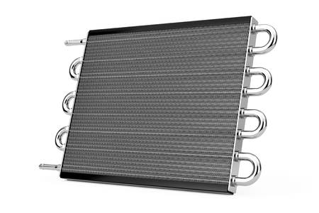 shiny car: Car Honeycomb Radiator Heater on a white background. 3d Rendering.