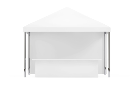 overhang: Advertising Promotional Outdoor Mobile Canopy Tent on a white background. 3d Rendering