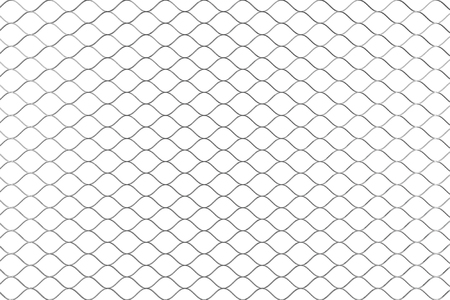 Metal Wired Fence Pattern on a white background. 3d Rendering