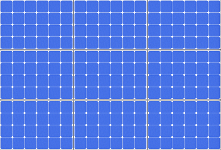 Sehr detaillierte Solarzellen-Muster-Panel extreme Nahaufnahme. 3D-Rendering