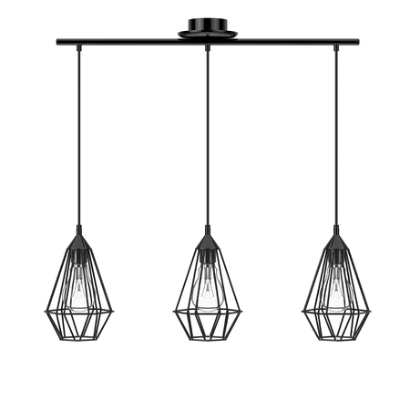 Vintage Lighting Decor Ceiling Lamps on a white background. 3d Rendering