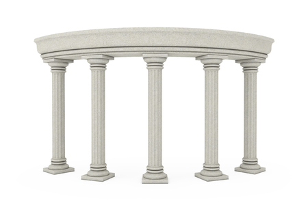 Ancient Classic Greek Column Arc on a white background. 3d Rendering Reklamní fotografie - 121854100