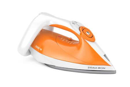 Electric Clothes Steam Iron on a white background. 3d Rendering