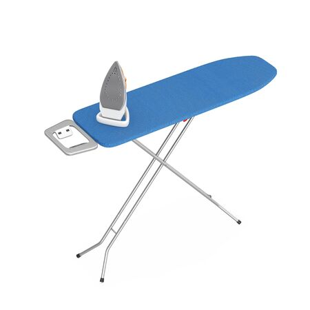 Electric Clothes Steam Iron with Ironing Board on a white background. 3d Rendering 写真素材