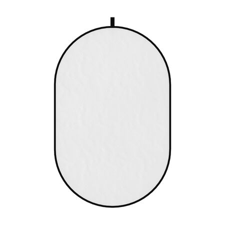 Photograpic White Disk Light Reflector Diffuser Screen on a white background. 3d Rendering