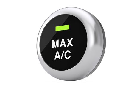 Car Air Condition Button on a white background. 3d Rendering Reklamní fotografie - 134358217