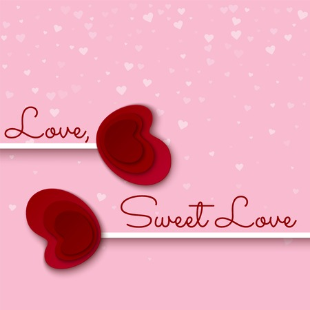 sweet love: Love sweet love card. Vector illustration.