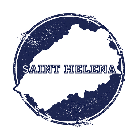 Saint Helena vector map. Grunge rubber stamp with the name and map of island, vector illustration. Can be used as insignia, logotype, label, sticker or badge.