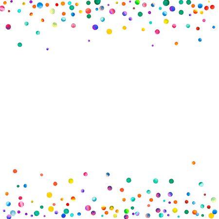 confetti aquarelle tiré sur fond blanc. aquarelle de couleur clin de main aquarelle peintes à la main coloré . tiré par la main