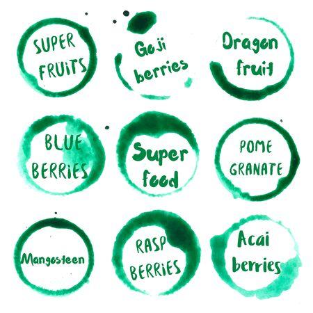スーパー ブルーベリー、室伏の果実、マンゴスチン、ドラゴン フルーツ、ザクロ、ラズベリー、アサイベリー、スーパー フード、ボディーク テキ