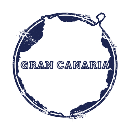 nationalist: Gran Canaria vector map. Grunge rubber stamp with the name and map of island, vector illustration. Can be used as insignia, logotype, label, sticker or badge.