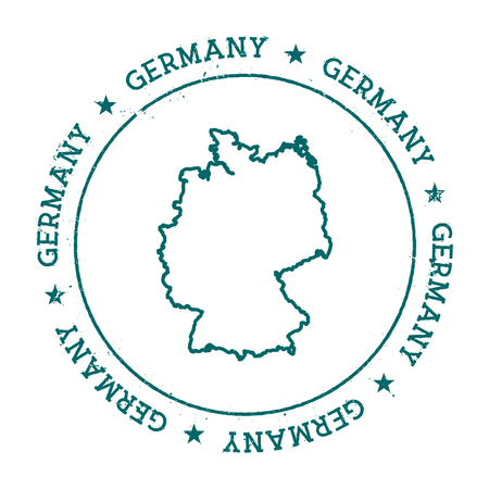 autograph: Germany vector map. Retro vintage insignia with country map. Distressed visa stamp with Germany text wrapped around a circle and stars. USA state map vector illustration.