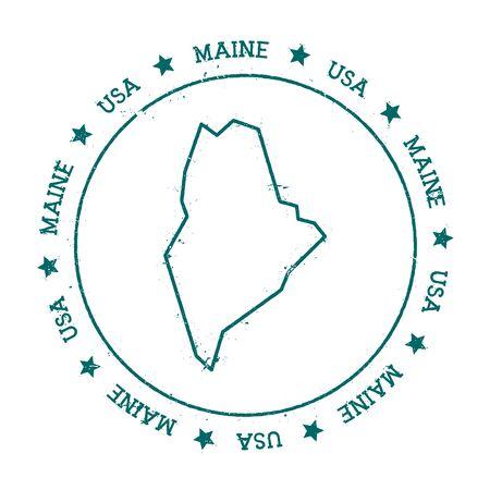 homeland: Maine vector map.