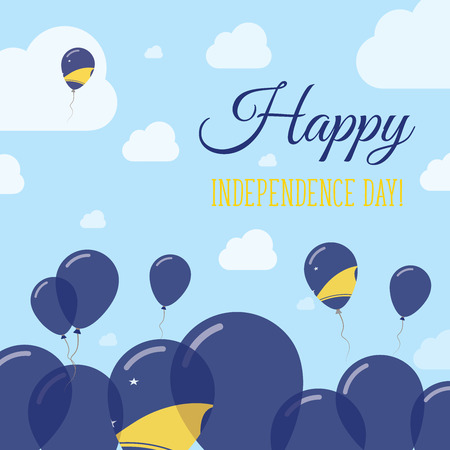 Tokelau Independence Day Flat Patriotic Design. Tokelauan Flag Balloons. Happy National Day Vector Card.