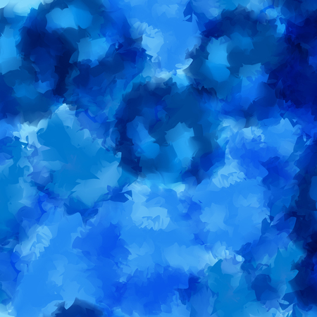 Blue watercolor texture background. Lovely abstract blue watercolor texture pattern. Expressive messy vector illustration.