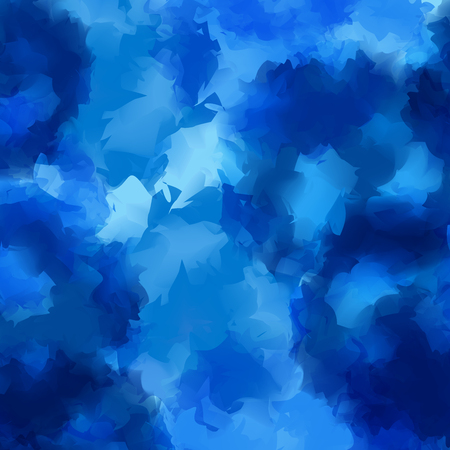 Blue watercolor texture background. Pleasing abstract blue watercolor texture pattern. Expressive messy vector illustration.