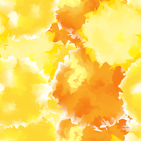 Yellow seamless watercolor texture background. Appealing abstract yellow seamless watercolor texture pattern. Expressive messy vector illustration. Illustration